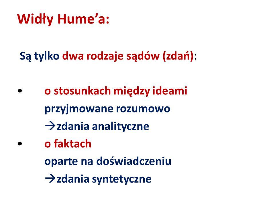 Widły Hume'a: Są tylko dwa rodzaje sądów (zdań):