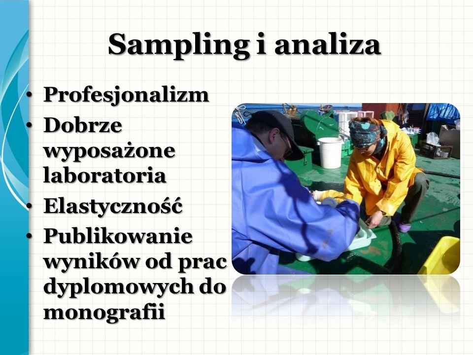 Sampling i analiza Profesjonalizm Dobrze wyposażone laboratoria