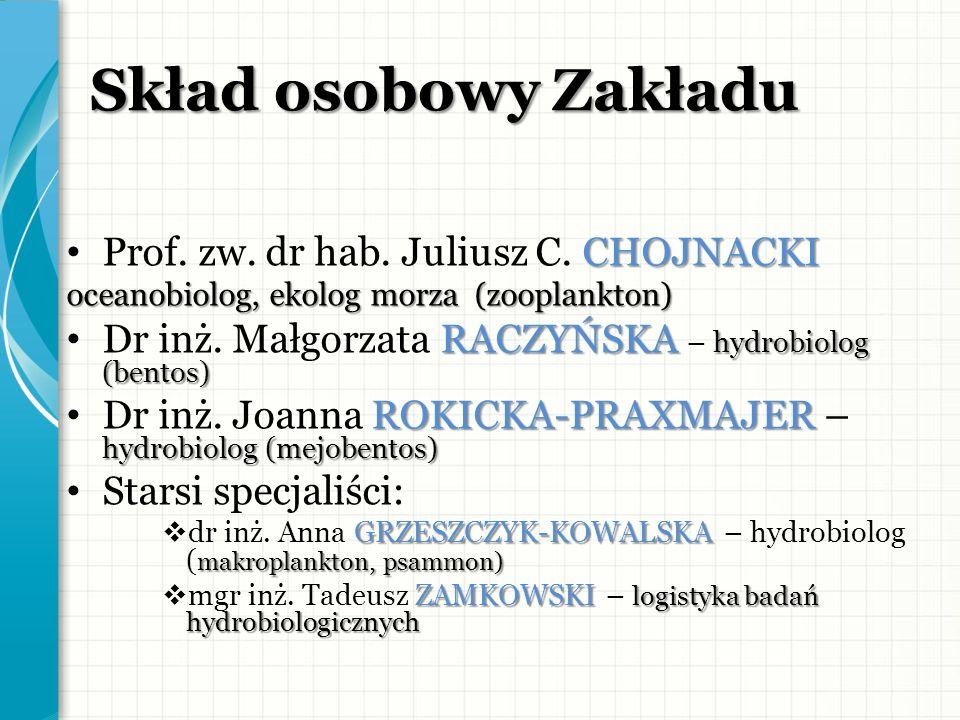 Skład osobowy Zakładu Prof. zw. dr hab. Juliusz C. CHOJNACKI