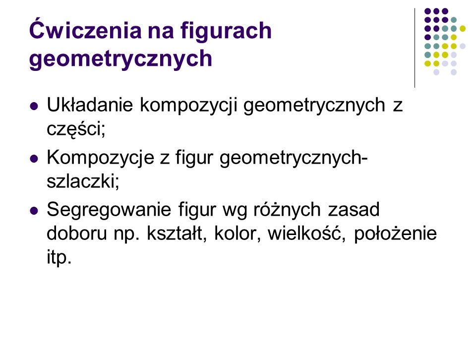 Ćwiczenia na figurach geometrycznych