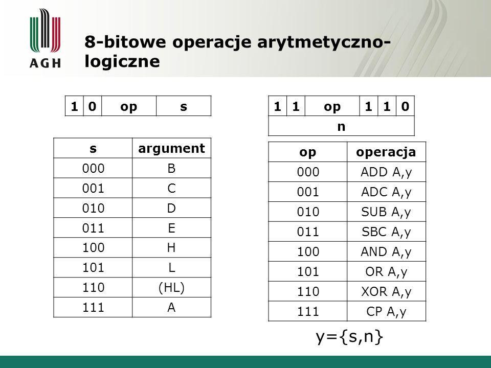 8-bitowe operacje arytmetyczno-logiczne