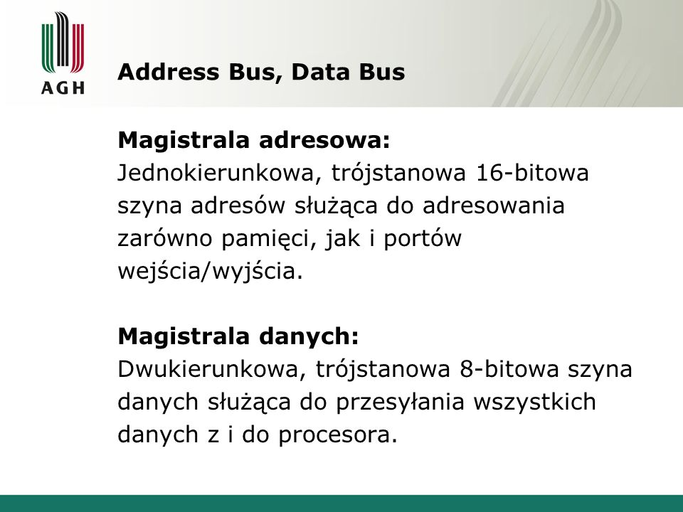 Address Bus, Data Bus