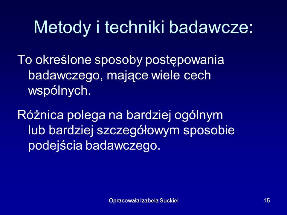 Metody i techniki badawcze: