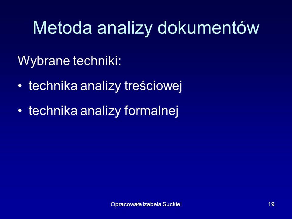 Metoda analizy dokumentów