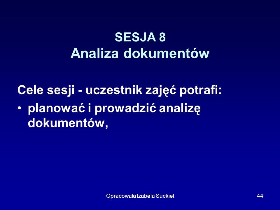 SESJA 8 Analiza dokumentów