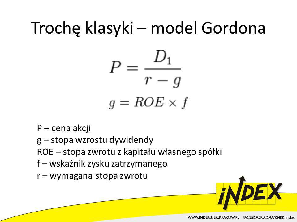 Trochę klasyki – model Gordona