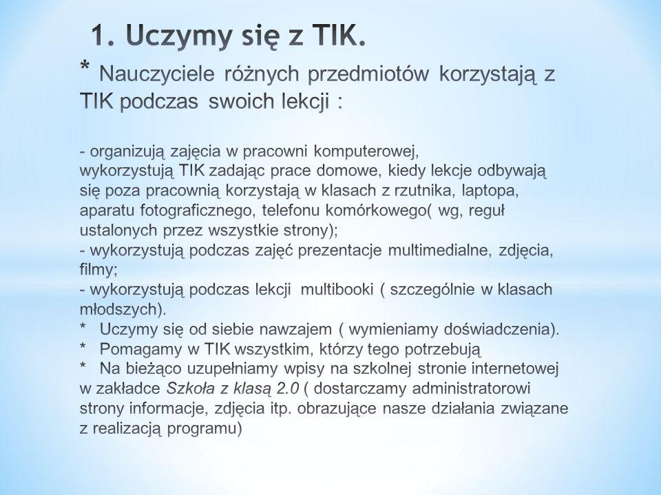 1. Uczymy się z TIK.