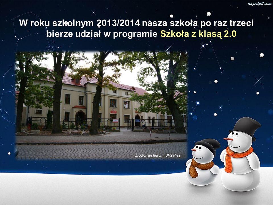 W roku szkolnym 2013/2014 nasza szkoła po raz trzeci bierze udział w programie Szkoła z klasą 2.0