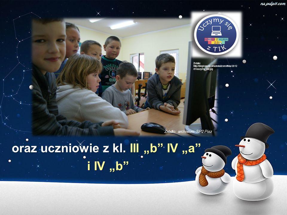 """oraz uczniowie z kl. III """"b IV """"a i IV """"b"""