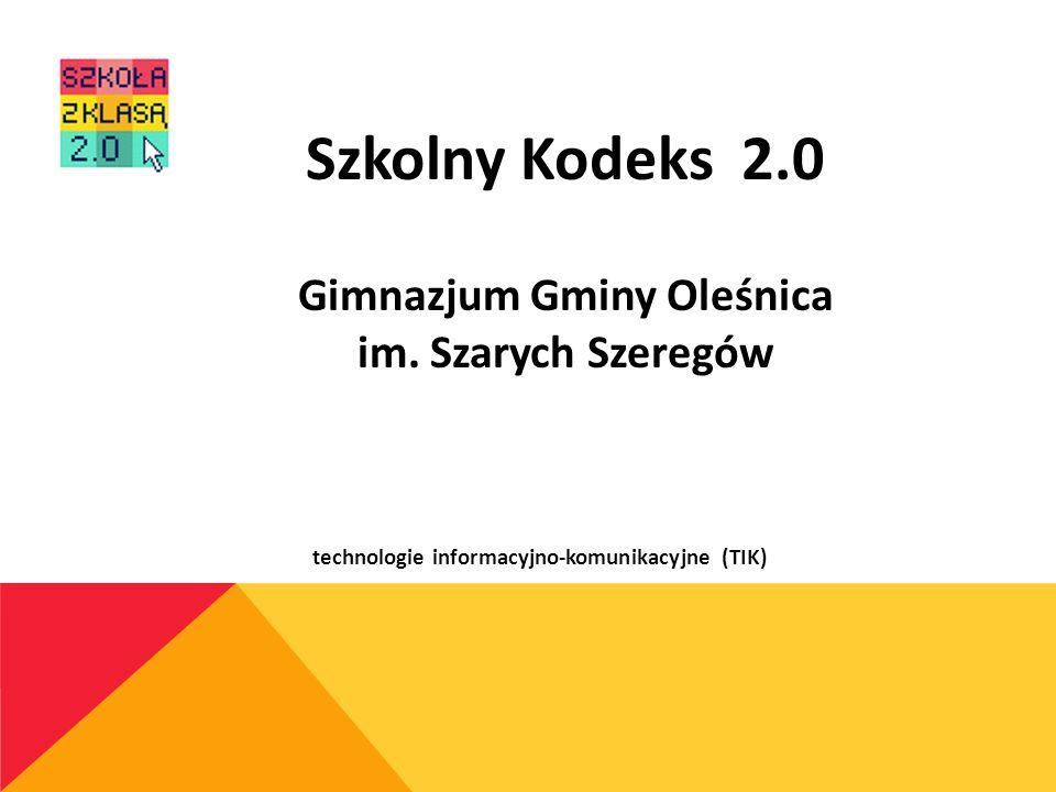 Gimnazjum Gminy Oleśnica technologie informacyjno-komunikacyjne (TIK)