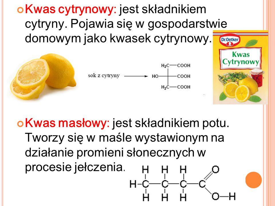 Kwas cytrynowy: jest składnikiem cytryny