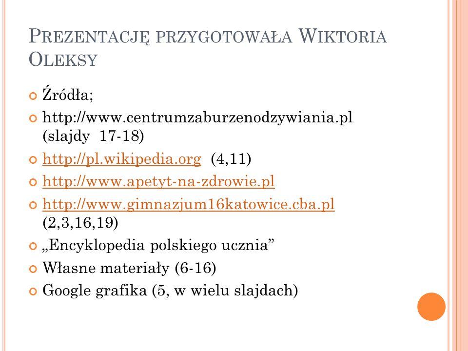 Prezentację przygotowała Wiktoria Oleksy