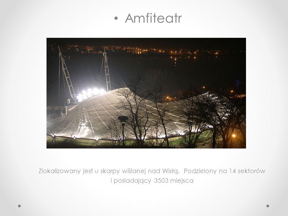 Amfiteatr Zlokalizowany jest u skarpy wiślanej nad Wisłą.
