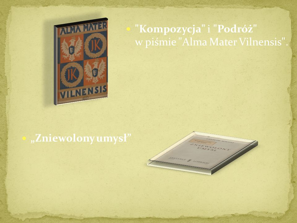 Kompozycja i Podróż w piśmie Alma Mater Vilnensis .