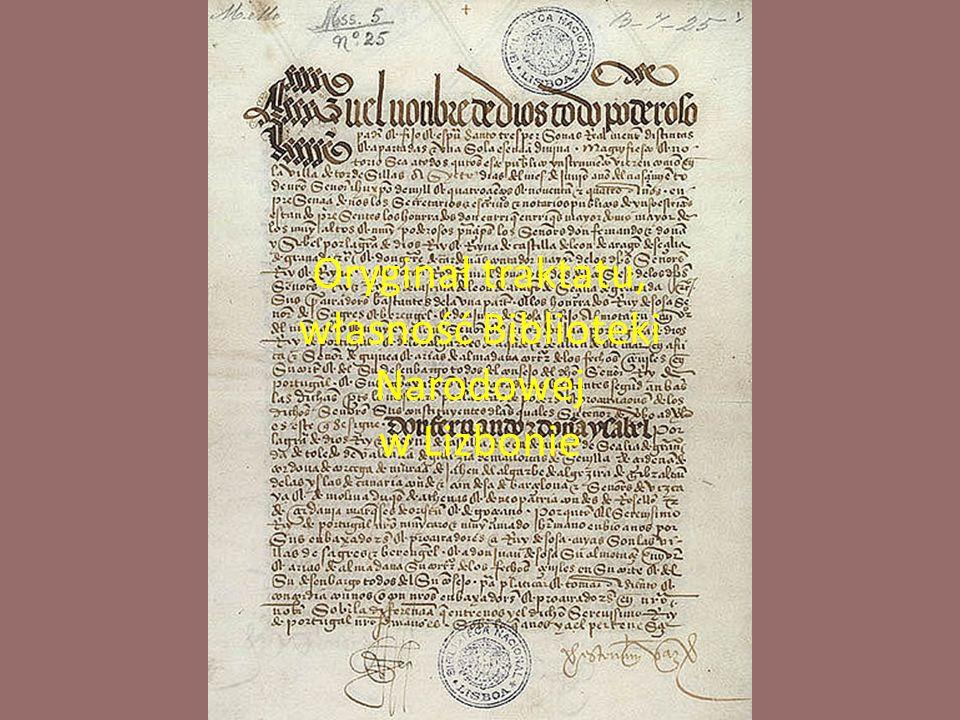 Oryginał traktatu, własność Biblioteki Narodowej w Lizbonie