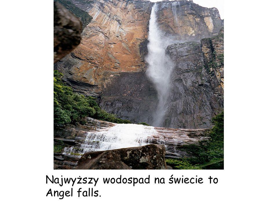 Najwyższy wodospad na świecie to Angel falls.