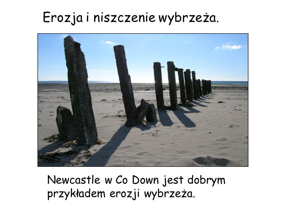 Erozja i niszczenie wybrzeża.