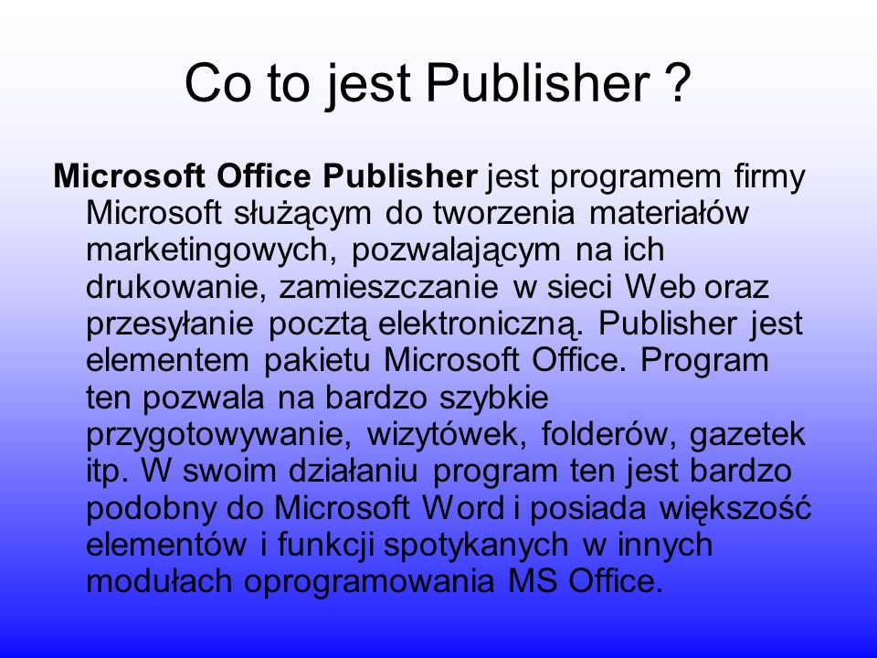 Co to jest Publisher