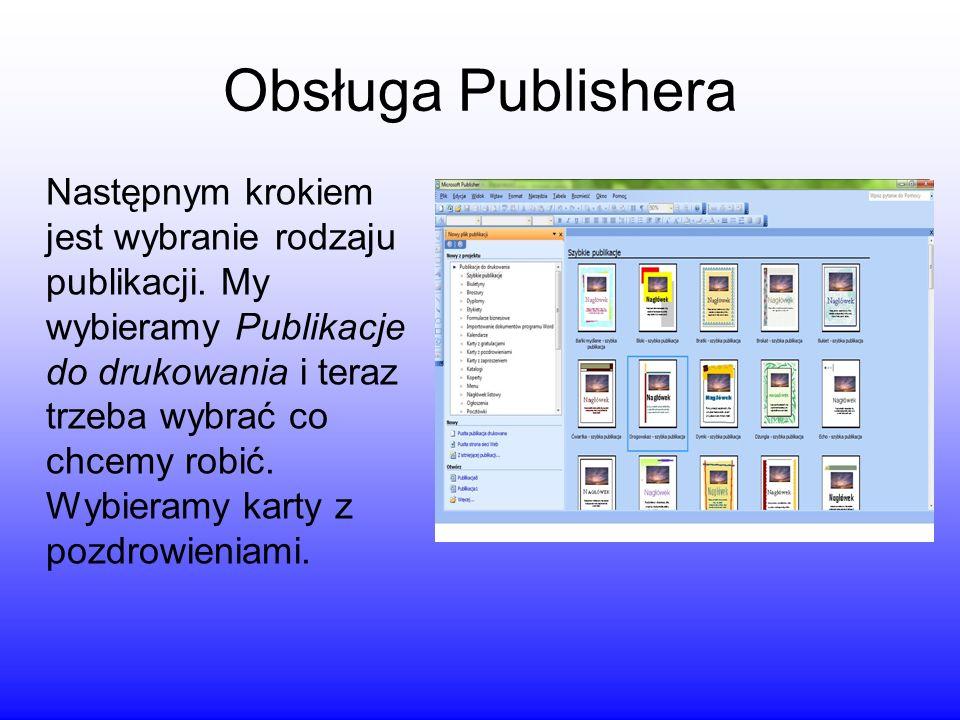 Obsługa Publishera