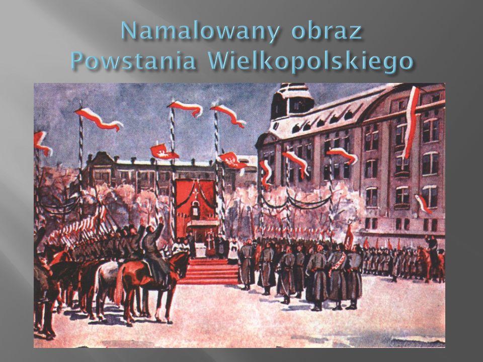 Namalowany obraz Powstania Wielkopolskiego