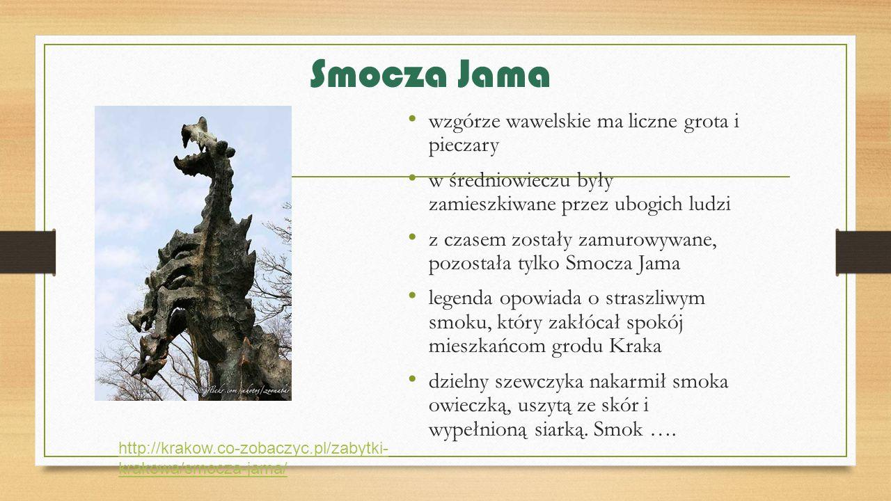 Smocza Jama wzgórze wawelskie ma liczne grota i pieczary