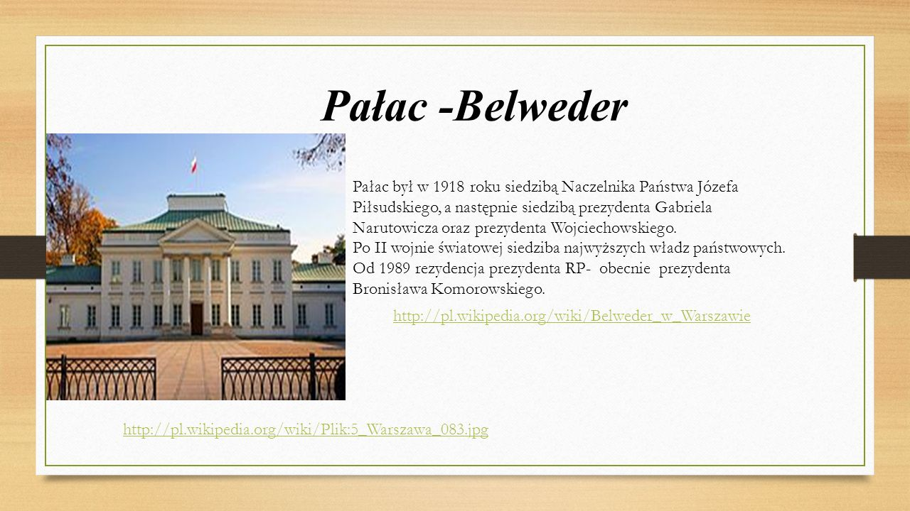 Pałac -Belweder