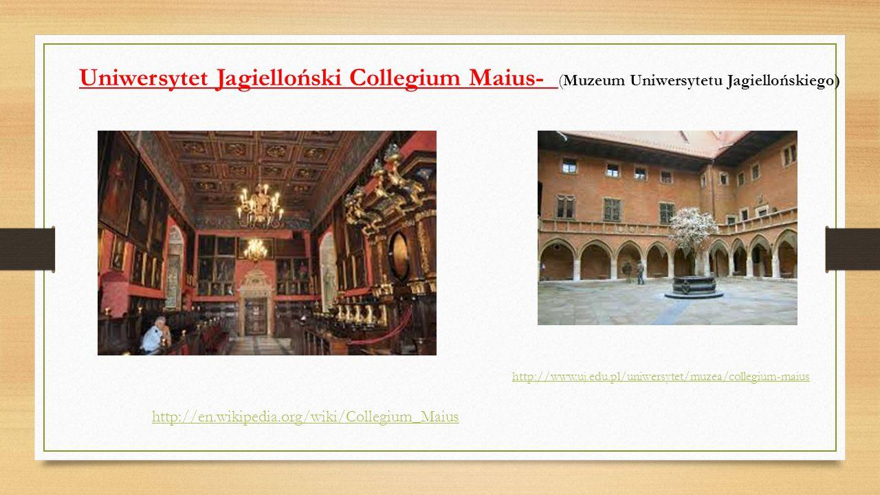 Uniwersytet Jagielloński Collegium Maius- (Muzeum Uniwersytetu Jagiellońskiego)
