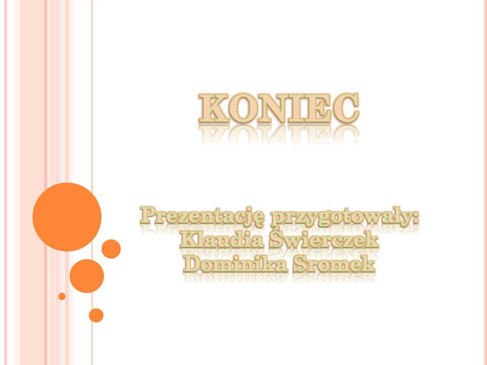 KONIEC Prezentację przygotowały: Klaudia Świerczek Dominika Sromek