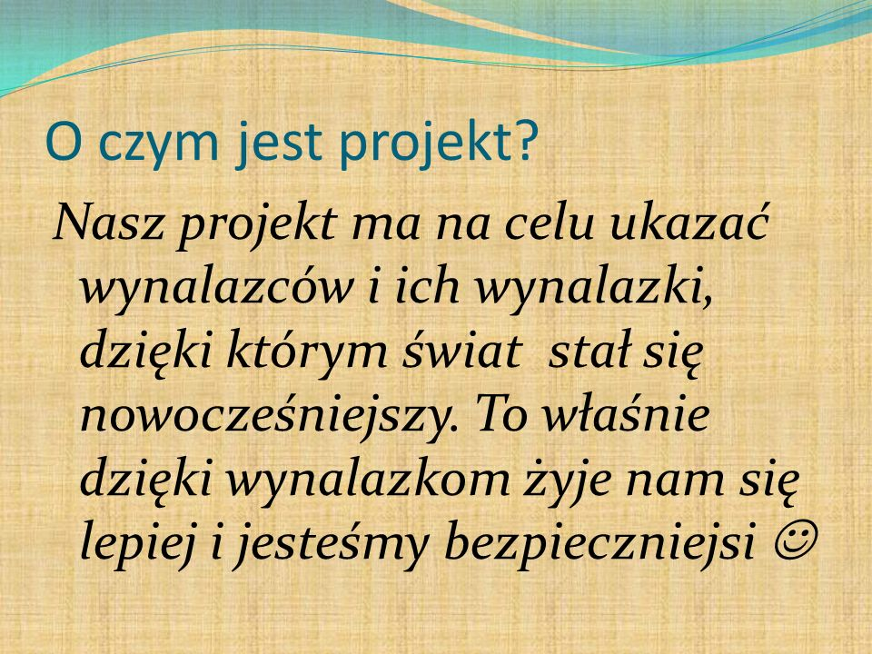 O czym jest projekt