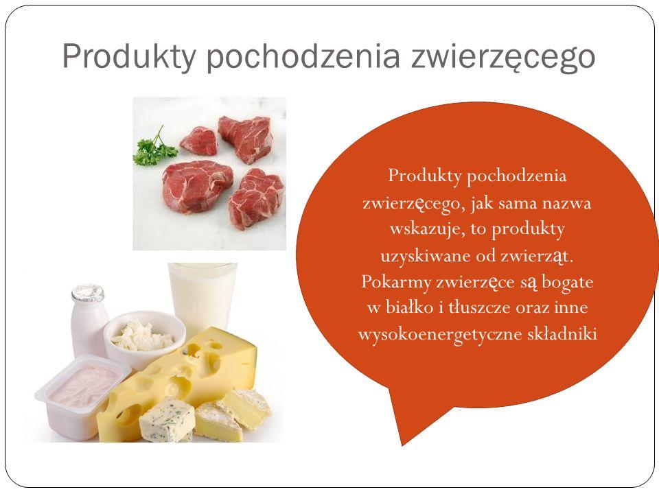 Produkty pochodzenia zwierzęcego