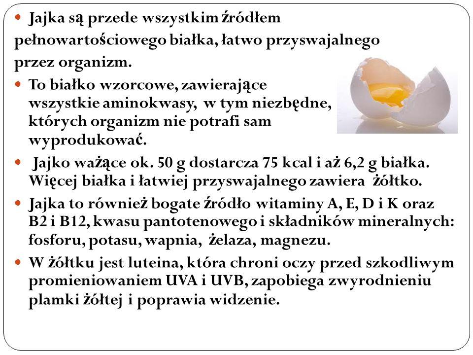 Jajka są przede wszystkim źródłem