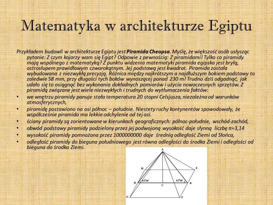 Matematyka w architekturze Egiptu