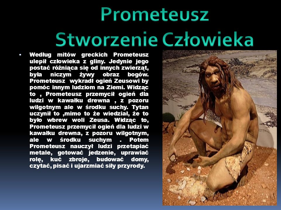 Prometeusz Stworzenie Człowieka