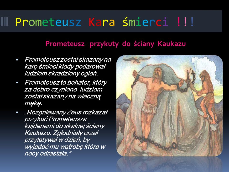 Prometeusz Kara śmierci !!!