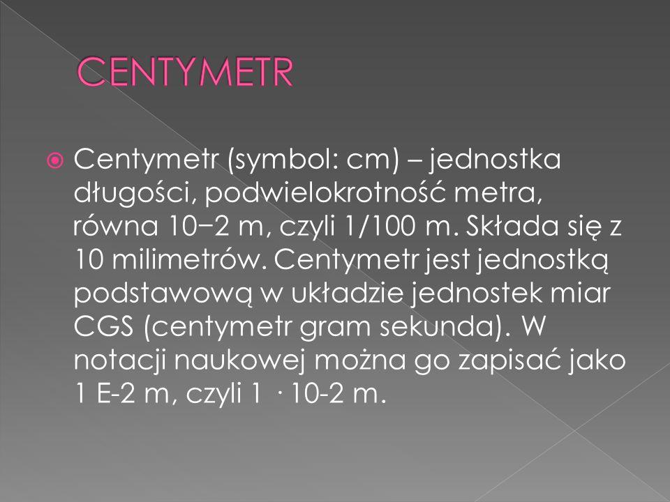 CENTYMETR