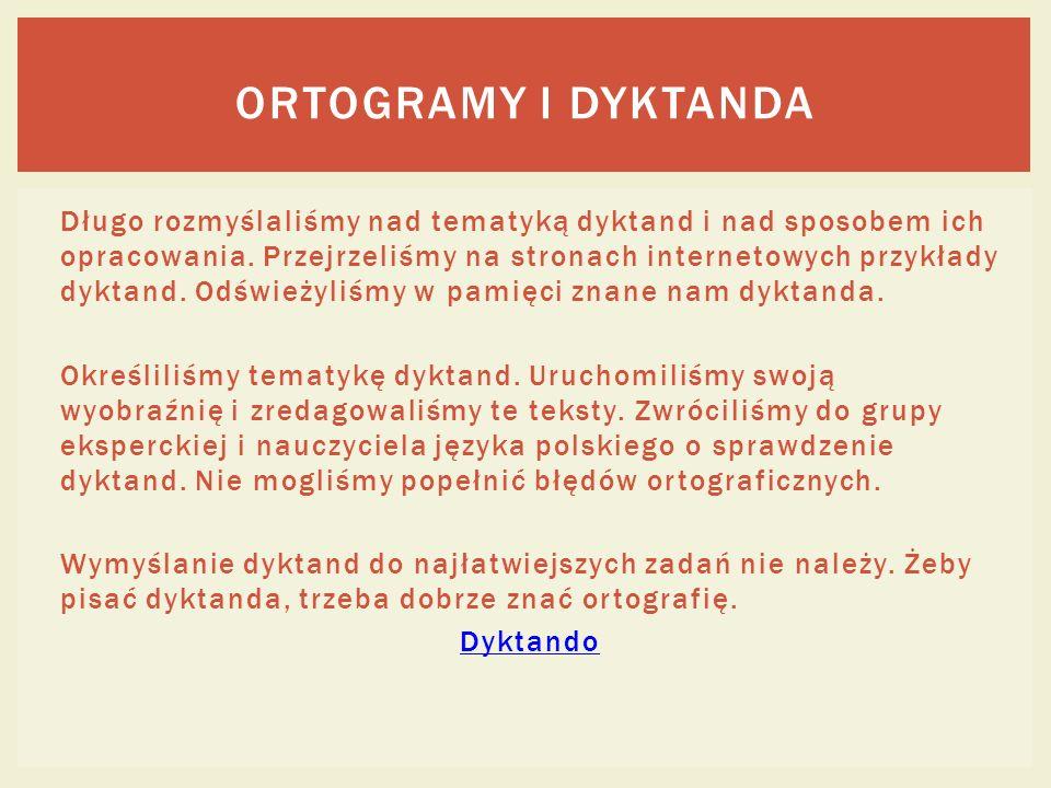 OrtograMy i dyktanda