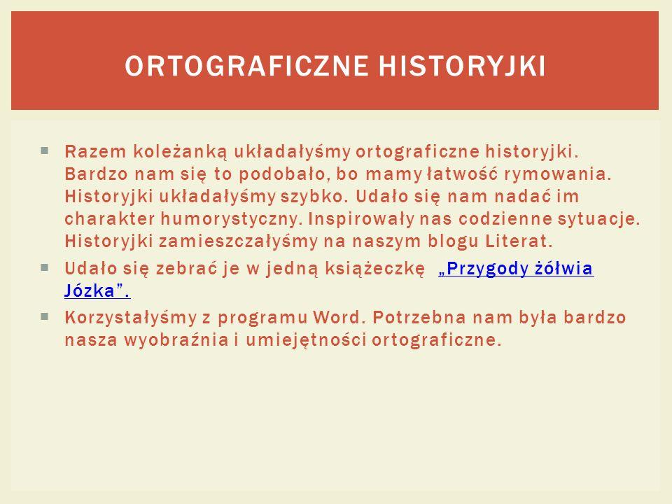 Ortograficzne historyjki