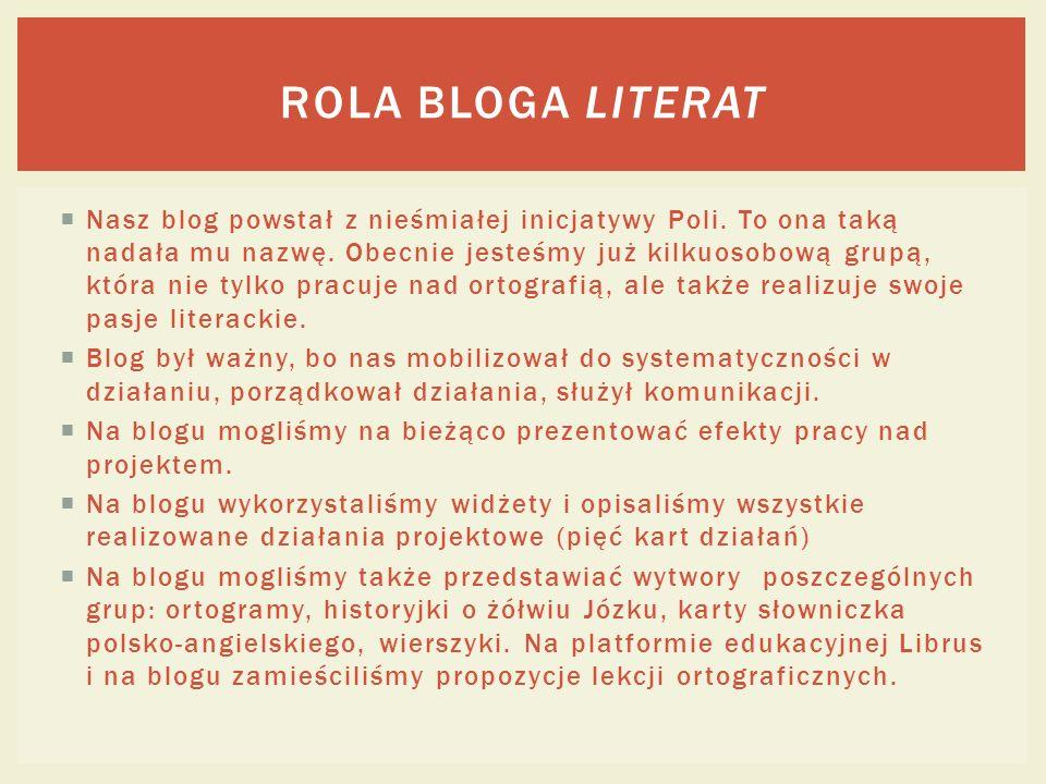 Rola bloga Literat