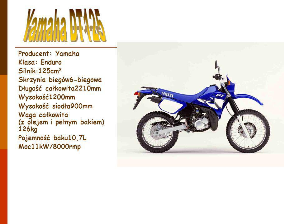 Yamaha DT125 Producent: Yamaha Klasa: Enduro Silnik:125cm3