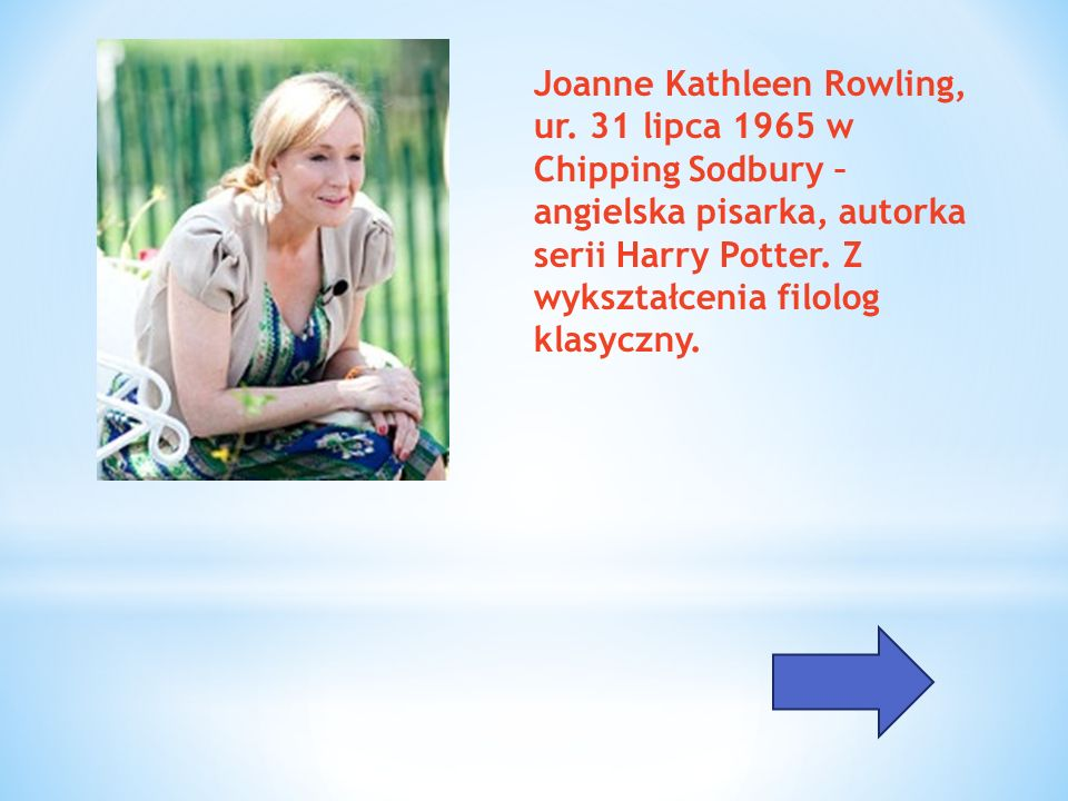 Joanne Kathleen Rowling, ur