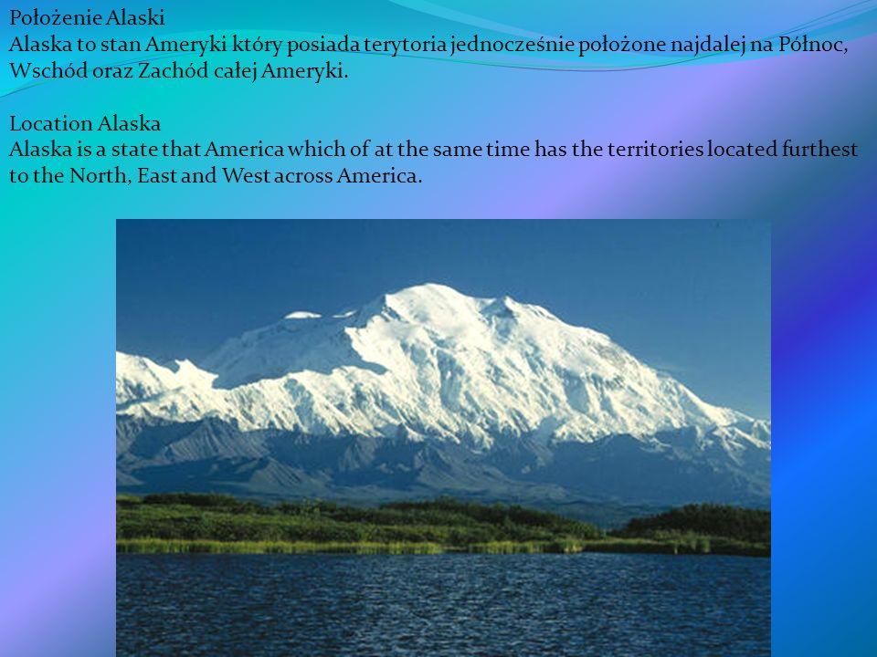 Położenie Alaski Alaska to stan Ameryki który posiada terytoria jednocześnie położone najdalej na Północ, Wschód oraz Zachód całej Ameryki.