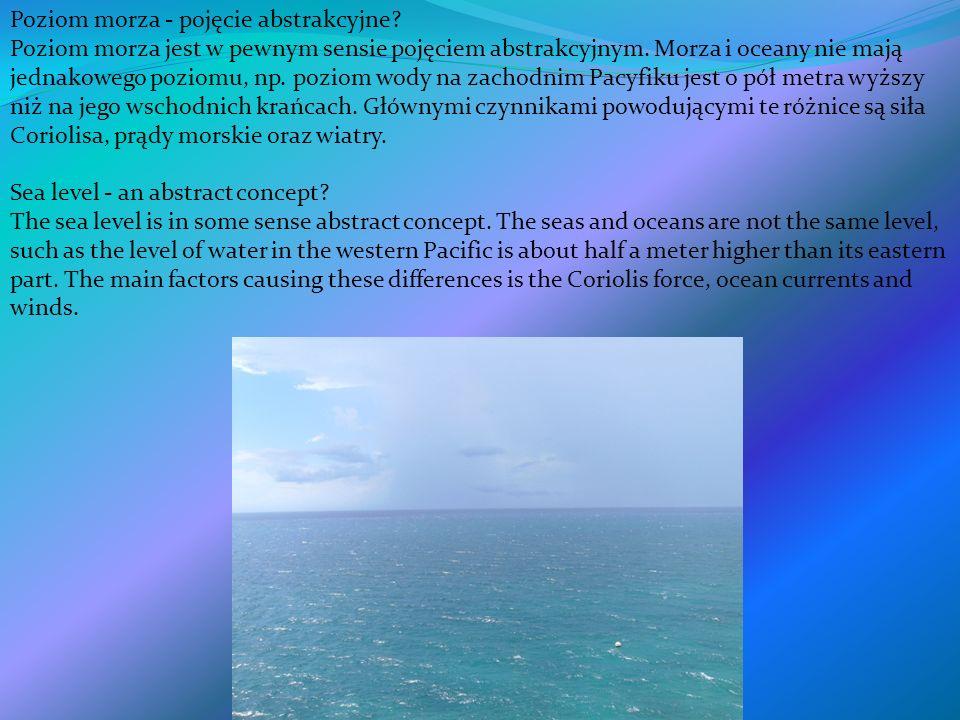 Poziom morza - pojęcie abstrakcyjne