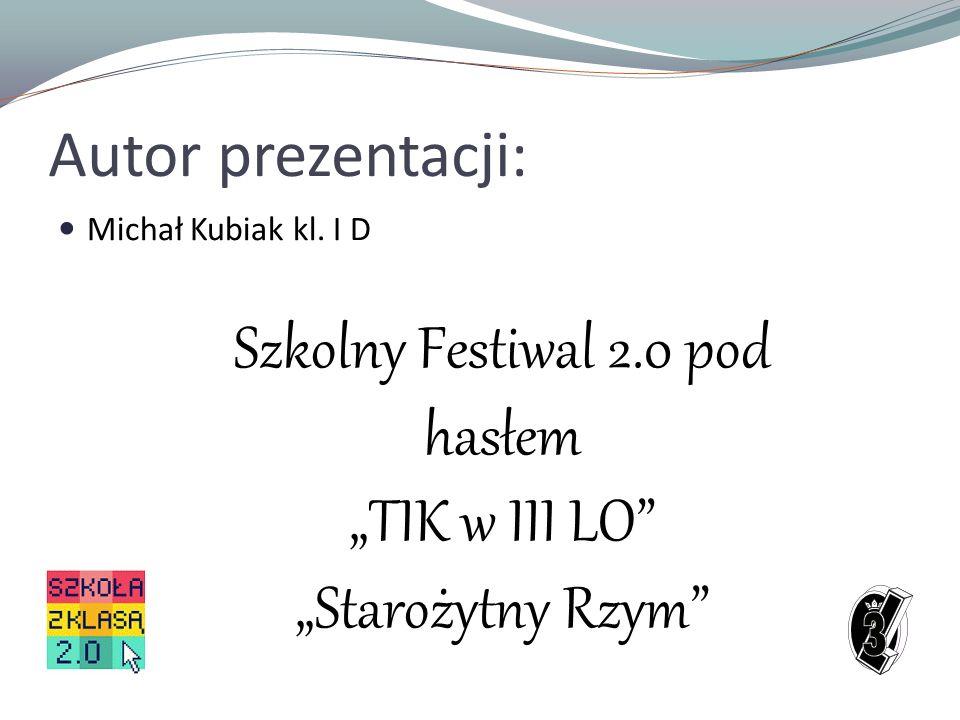 Szkolny Festiwal 2.0 pod hasłem