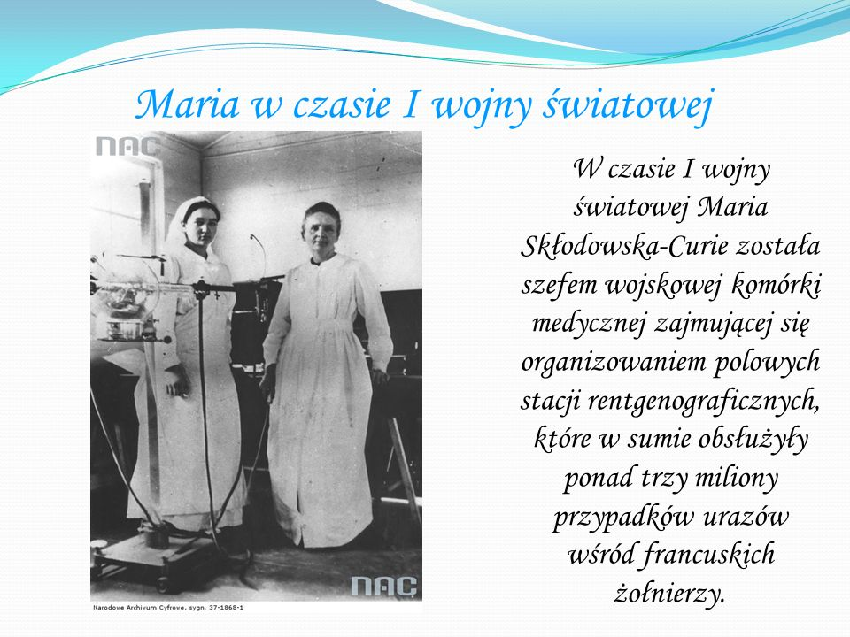 Maria w czasie I wojny światowej