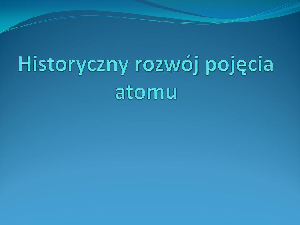 Historyczny rozwój pojęcia atomu