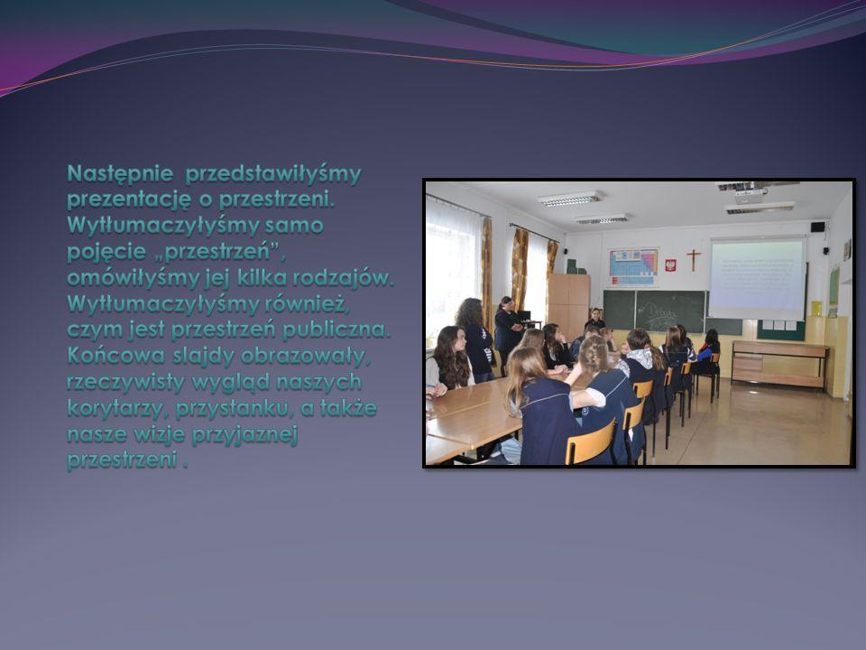 Następnie przedstawiłyśmy prezentację o przestrzeni