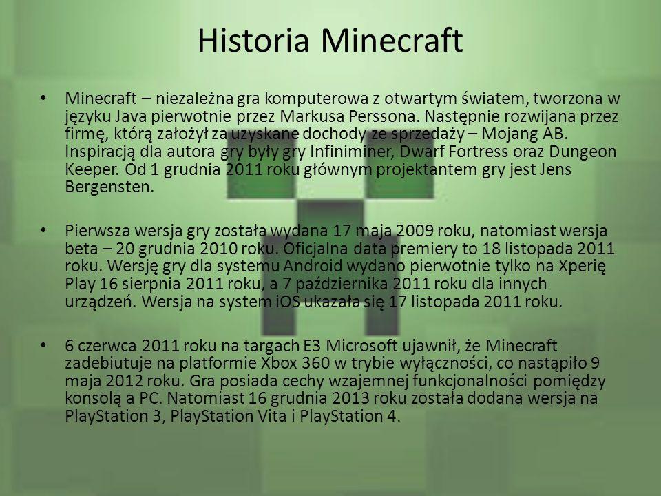 Historia Minecraft