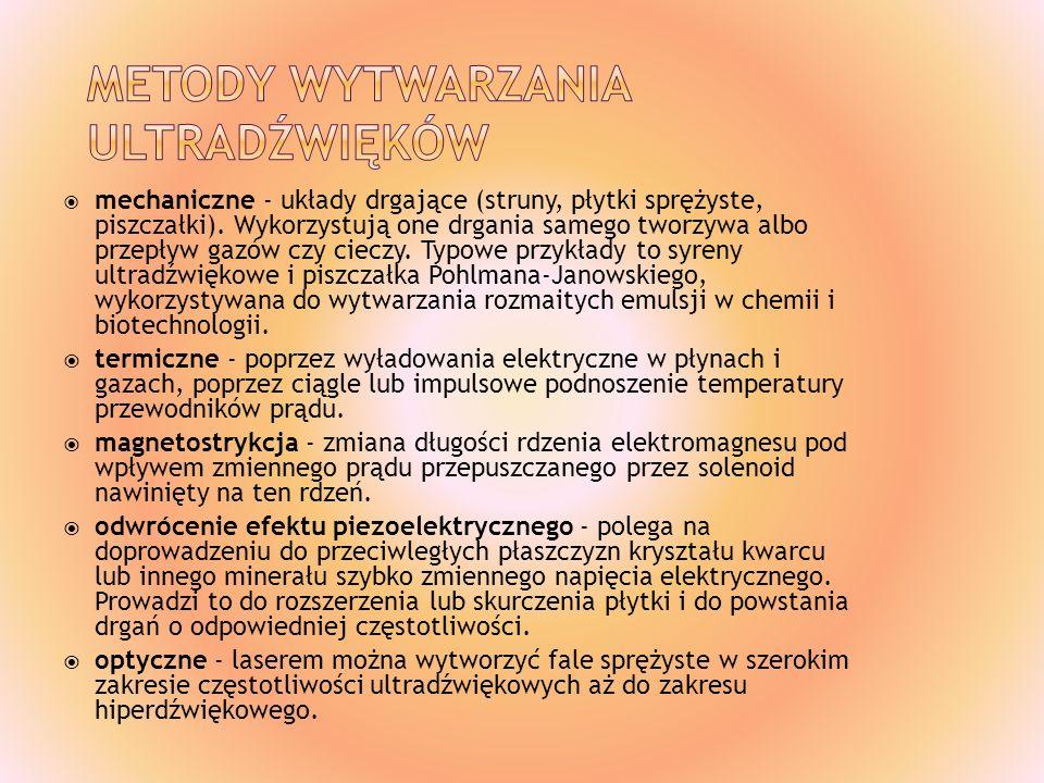 Metody wytwarzania ultradźwięków