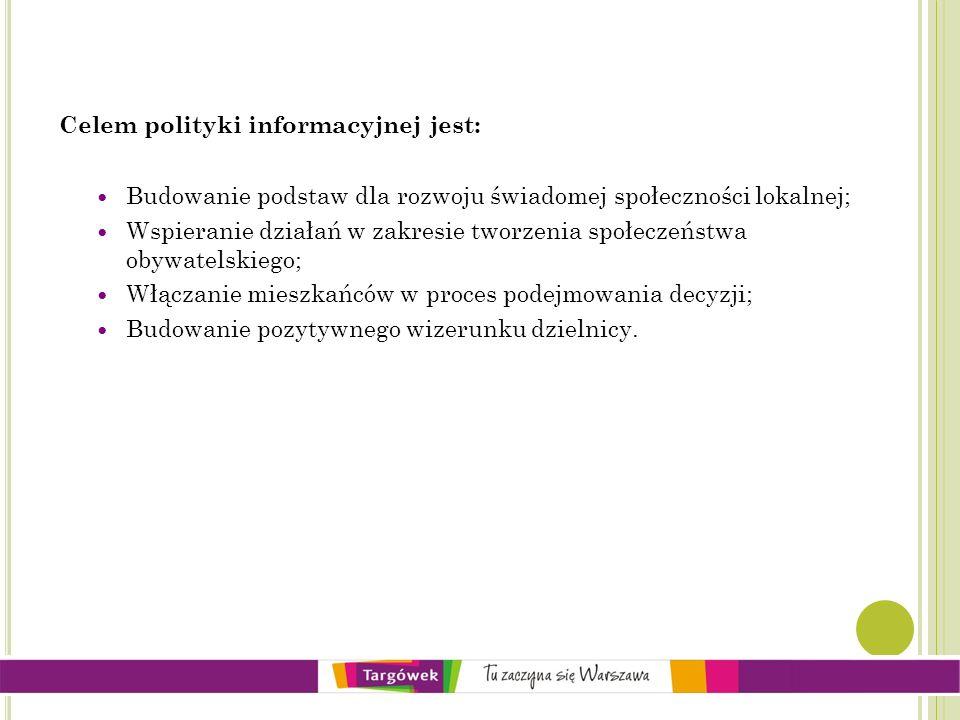 Celem polityki informacyjnej jest: