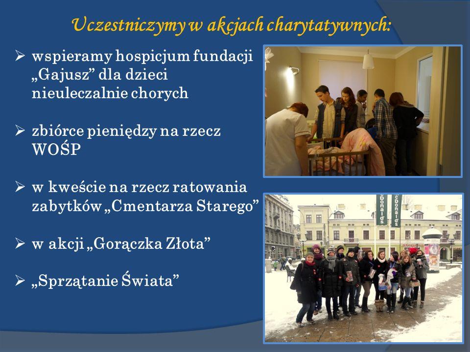 Uczestniczymy w akcjach charytatywnych: